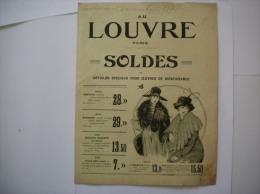 AU LOUVRE 1917 SOLDES ARTICLES SPECIAUX POUR OEUVRES DE BIENFAISANCE 8 PAGES - Publicités