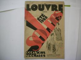AU LOUVRE ETE 1928 SOLDES  OCCASIONS SPECIALES 16 PAGES - Publicités