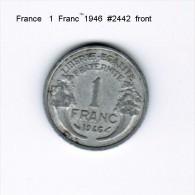 FRANCE   1  FRANC  1946  (KM # 885a.1) - France