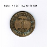 FRANCE   1  FRANC  1923  (KM # 876) - France