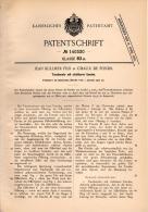 Original Patentschrift - J. Kullmer Fils In La Chaux De Fonds , 1902 , Taschenuhr Mit Sichtbarer Unruhe , Uhr !!! - Montres Gousset