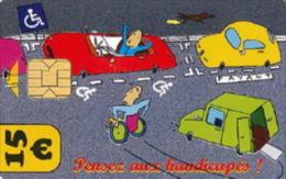 # Carte De Stationnement Pariscarte 0907 Handicapes 15 Euros - Verso 12 -tres Bon Etat - - Parkkarten