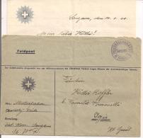 FELDPOST, LETTER VIAGGIATA 1941 Sargans - IRIS, ENTHÄLT ENVELOPE Original Brief, - Posta Militare