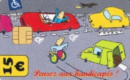 # Carte De Stationnement Pariscarte 0908 Handicapes 15 Euros - Verso 13 -tres Bon Etat - - Parkkarten