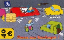 # Carte De Stationnement Pariscarte 0925 Handicapes 40 Euros - Verso 12 -tres Bon Etat - - Parkkarten