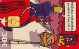 # Carte De Stationnement Pariscarte 1012 Pompiers 30 Euros - Verso 11 -tres Bon Etat - - Parkkarten