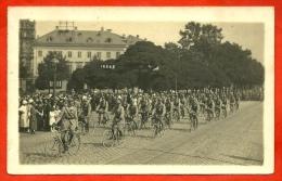 CPA CARTE PHOTO AK KOBLENZ Coblence - Quatorze Juillet - Défilé Bataillon De Cyclistes...MILITARIA Soldats Militaire - Koblenz