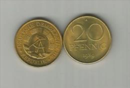 TOP!! DDR * 20 PFENNIG 1989 A * STEMPELGLANZ/EXPORT AUS DER ROLLE **!! - [ 6] 1949-1990 : GDR - German Dem. Rep.