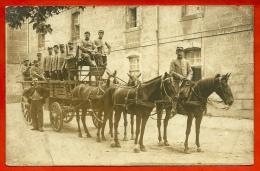 CPA CARTE PHOTO 39 DOLE Jura - Caserne Du Quatorzième Chasseurs - Attelage Super Plan - MILITAIRE MILITARIA - War 1914-18