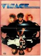 Kleines Poster  -  Band Visage (Steve Strange )  -  Rückseite : Bruce Springsteen  -  Von Pop-Rocky Ca. 1982 - Plakate & Poster