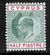 Cyprus  50   *    Wmk 3  1904-7 Issue - Cyprus (...-1960)