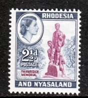 Rhodesia And Nyasaland 161  * - Rhodesia & Nyasaland (1954-1963)