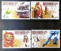 Hong Kong 2007 Wushu Stamps - Kung Fu Kong Fu Sport Martial Art Book Lion Costume Culture - 1997-... Chinese Admnistrative Region