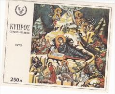 Cyprus 1972 Christmas Souvenir Sheet MNH - Unclassified