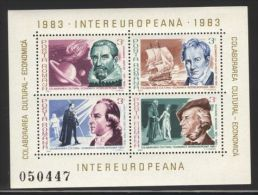 Romania - 1983 Intereuropa Block (1) MNH__(FIL-9890) - Blokken & Velletjes