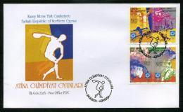 Turkish Republic Of Northern Cyprus 2004 FDC  - Athens Olympic Games - Zypern (Türkei)