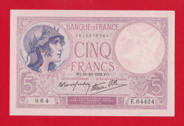 """BILLET DE 5 FRANCS  """"VIOLET""""  DU 19-10-1939  E.64424 - 5 F 1917-1940 ''Violet''"""