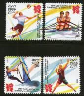 India 2012 London Olympic Games Badminton Sailing Rowing Handball 4v MNH - Summer 2012: London