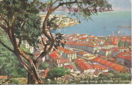 Monto Carlo Among The Olives Ralph Tuck & Sons The Wide-Wide World Series No 7531 - Monaco