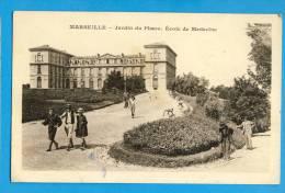 CP, 13, MARSEILLE, Jardin Du Pharo - Ecole De Médecine, Ecrite En 1932 - Monuments
