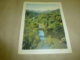 Cliché Yan De 1954  Grande Photographie En Couleurs (27cm X 21cm)   Le PONT Du DIABLE (Ariège) - Luoghi