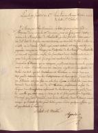 GENERAL EMPIRE  PIERRE  NICOLAS  D  '  AGOULT   LETTRE  DU  17  FRUCTIDOR  AN  VI - Autographes
