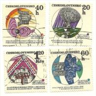 1970 - Cecoslovacchia 1814/16 + 1818 Cosmo C2535, - Space