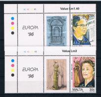 Malta 1996 Europa/Cept Mi.Nr. 983/84 Kpl. Satz ** - Malta