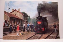 """LE TRAIN A VAPEUR -velay -vivarais """"la Galoche"""" - Gares - Avec Trains"""