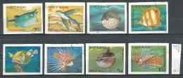 VIET-NAM - 1984 - Poissones  - 8v Obl. Mi No 1432/39 - CV 16.00 EU - Fishes