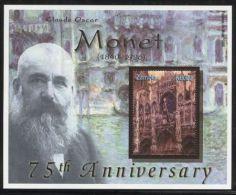 Zambia - 2001 Claude Monet Block MNH__(FIL-10200) - Zambia (1965-...)