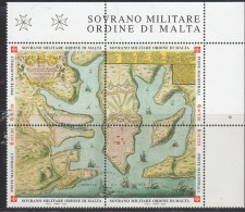 PIA - SMOM - 2002 : Antiche Tavole  Geografiche - (UN 685-88) - Sovrano Militare Ordine Di Malta