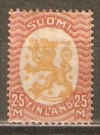FINLANDIA YVERT NUM. 121 * NUEVO CON FIJASELLOS - Finlandia