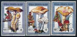 Malagasy Madagascar Mushrooms Scouting Pilze Pfadfinder Set (3) °BM0554 MNH - Pilze