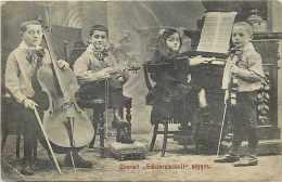 """Pays Divers-hongrie - Ref 857 -quartett """"schwarzmanoff"""" Négyes - Orchestre - Thème Musique - - Hongrie"""