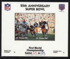 St.Vincent - 1991 Super Bowl Block (1) MNH__(FIL-10239) - St.Vincent (1979-...)