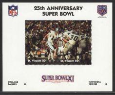 St.Vincent - 1991 Super Bowl Block (11) MNH__(FIL-10254) - St.Vincent (1979-...)