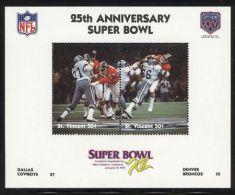 St.Vincent - 1991 Super Bowl Block (12) MNH__(FIL-10255) - St.Vincent (1979-...)