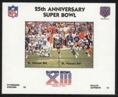 St.Vincent - 1991 Super Bowl Block (13) MNH__(FIL-10256) - St.Vincent (1979-...)