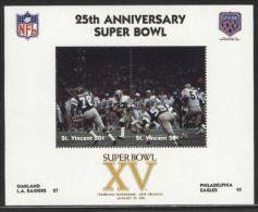 St.Vincent - 1991 Super Bowl Block (15) MNH__(FIL-10258) - St.Vincent (1979-...)