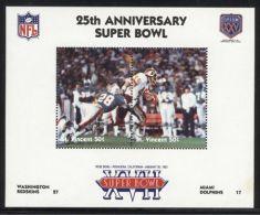 St.Vincent - 1991 Super Bowl Block (17) MNH__(FIL-10260) - St.Vincent (1979-...)