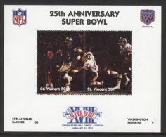St.Vincent - 1991 Super Bowl Block (18) MNH__(FIL-10261) - St.Vincent (1979-...)