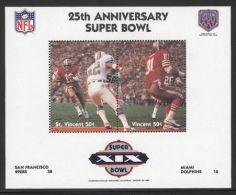 St.Vincent - 1991 Super Bowl Block (19) MNH__(FIL-10262) - St.Vincent (1979-...)