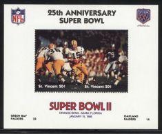 St.Vincent - 1991 Super Bowl Block (2) MNH__(FIL-10240) - St.Vincent (1979-...)