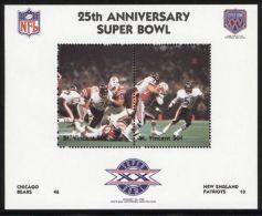 St.Vincent - 1991 Super Bowl Block (20) MNH__(FIL-10263) - St.Vincent (1979-...)