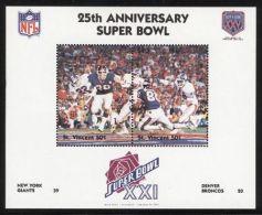 St.Vincent - 1991 Super Bowl Block (21) MNH__(FIL-10264) - St.Vincent (1979-...)