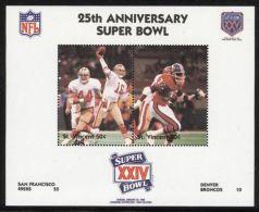 St.Vincent - 1991 Super Bowl Block (24) MNH__(FIL-10267) - St.Vincent (1979-...)