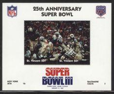 St.Vincent - 1991 Super Bowl Block (3) MNH__(FIL-10241) - St.Vincent (1979-...)