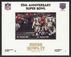 St.Vincent - 1991 Super Bowl Block (4) MNH__(FIL-10242) - St.Vincent (1979-...)