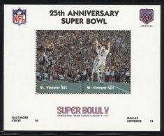 St.Vincent - 1991 Super Bowl Block (5) MNH__(FIL-10243) - St.Vincent (1979-...)